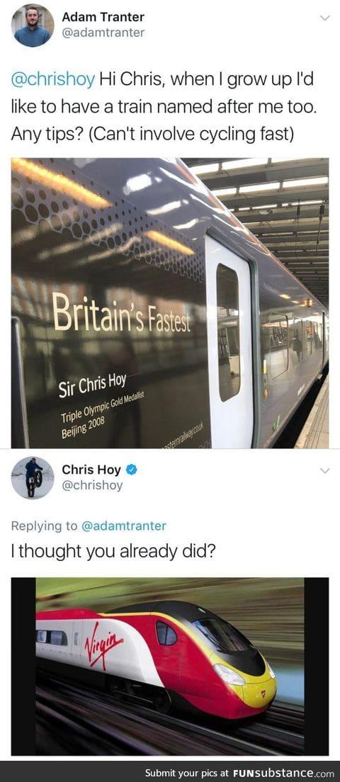 Sir Chris Hoy is ruthless