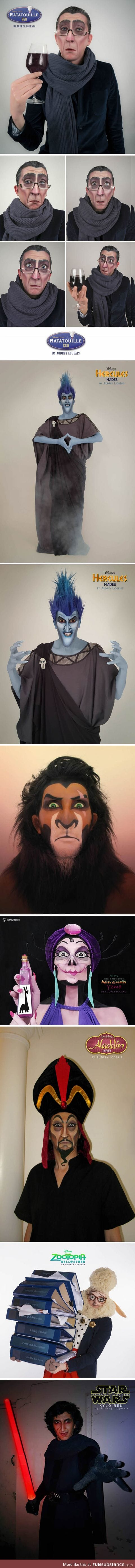 This makeup artist turns people into Disney villains
