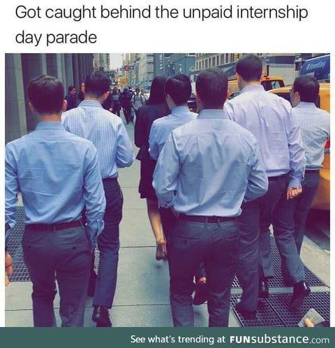 Unpaid interns parade