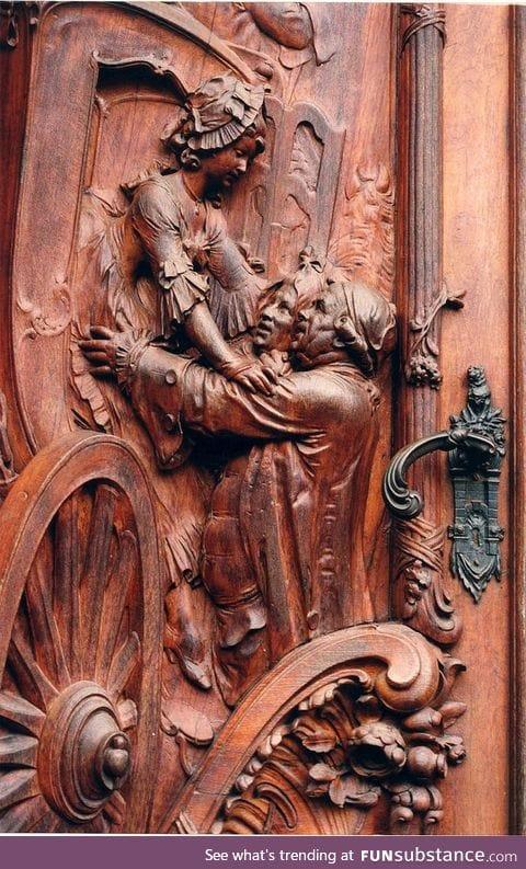 Carved door in Germany