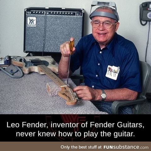 The inventor of a guitar doesn't know how to play one