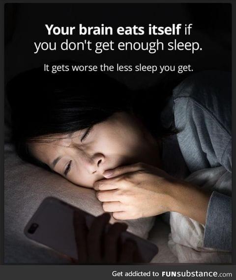 Brain eats itself if you don't get enough sleep