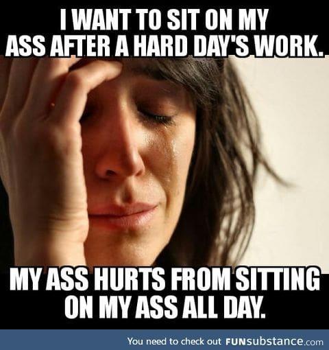 Desk jobs sucks