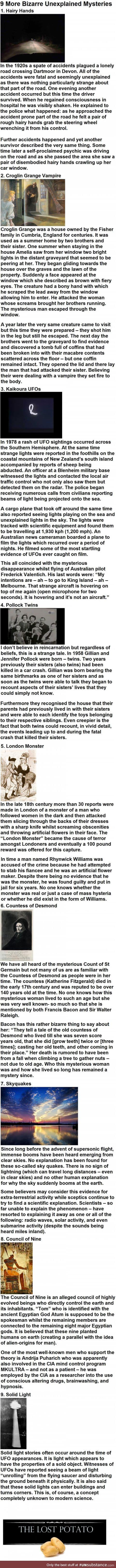 9 more bizarre unexplained mysteries