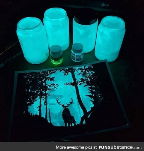 Glow in the dark painting