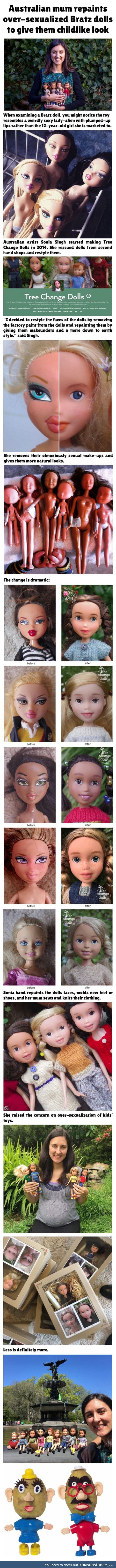 Amazing artist changes sexualised dolls