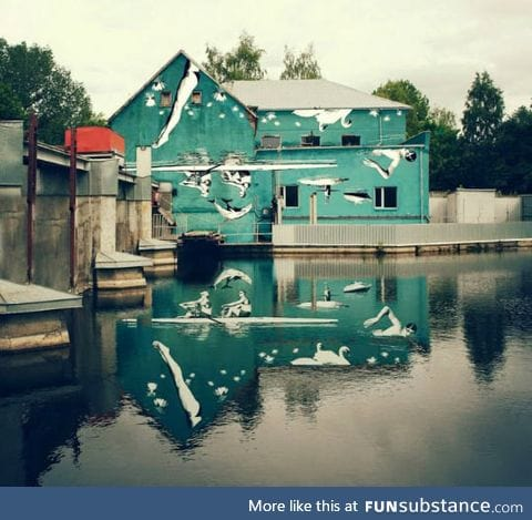 Water reflection art