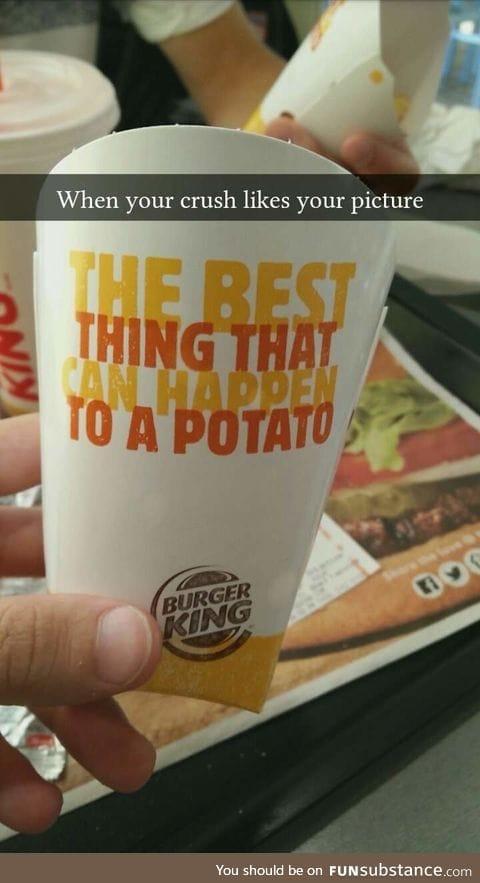 Also being a potato