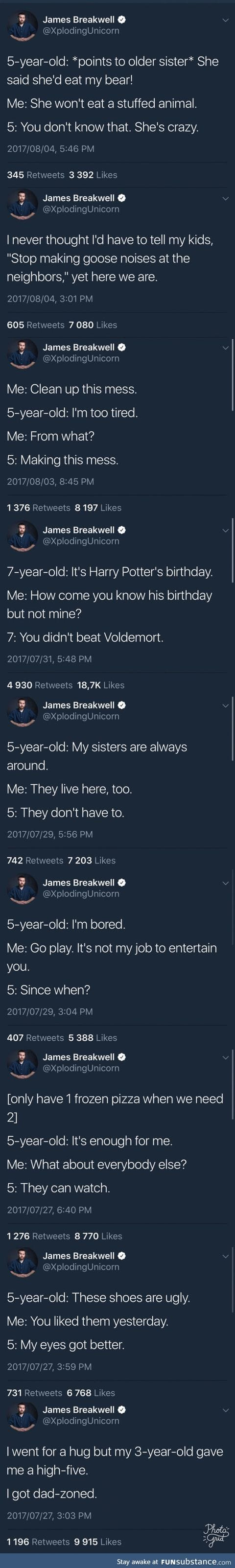 Just a guy on twitter who posts things his 4 kids say