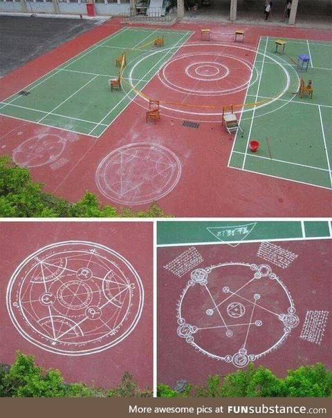 All that chalk they used...Must have cost them an arm and a leg