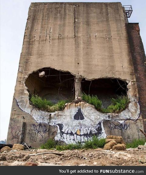 Evil grafiti art in texas