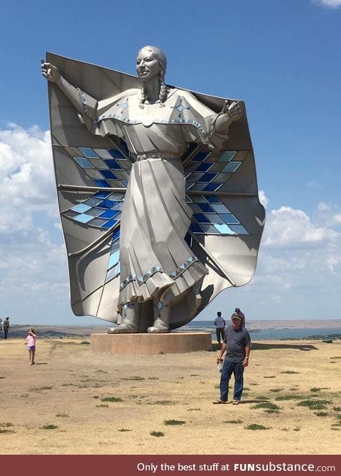 "New 50ft statue ""Dignity"" that just went up in South Dakota"