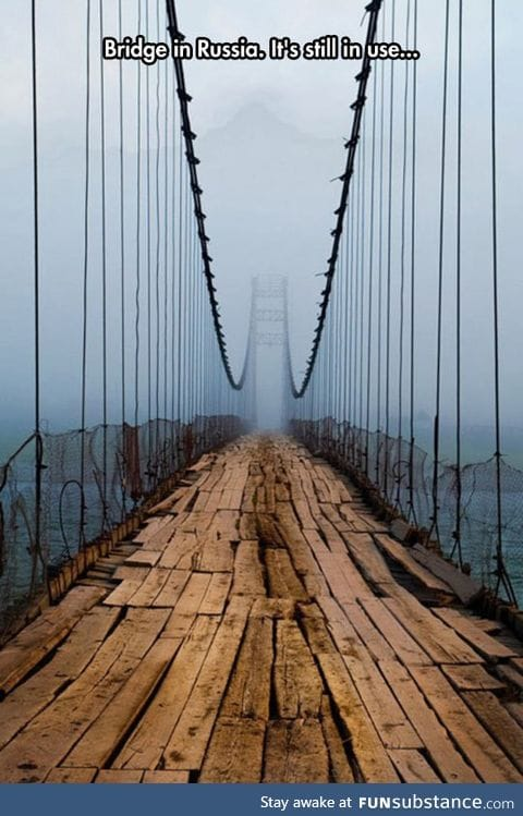 Beautiful and dangerous bridge