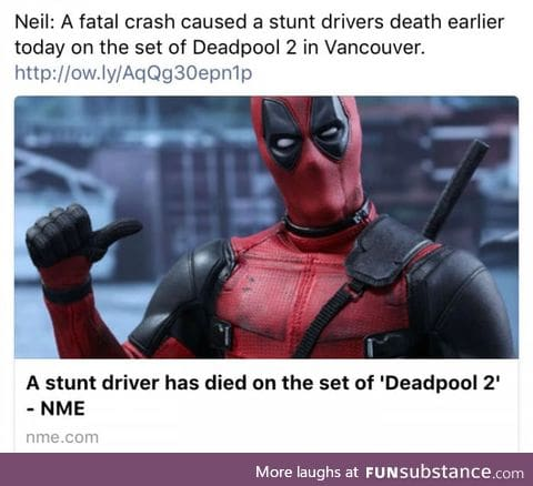 With all the Deadpool posts, RIP