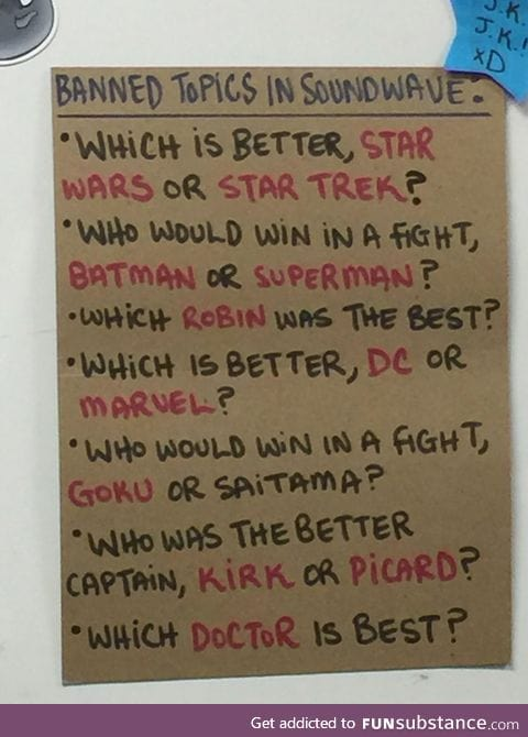 Banned topics at local comic book shop