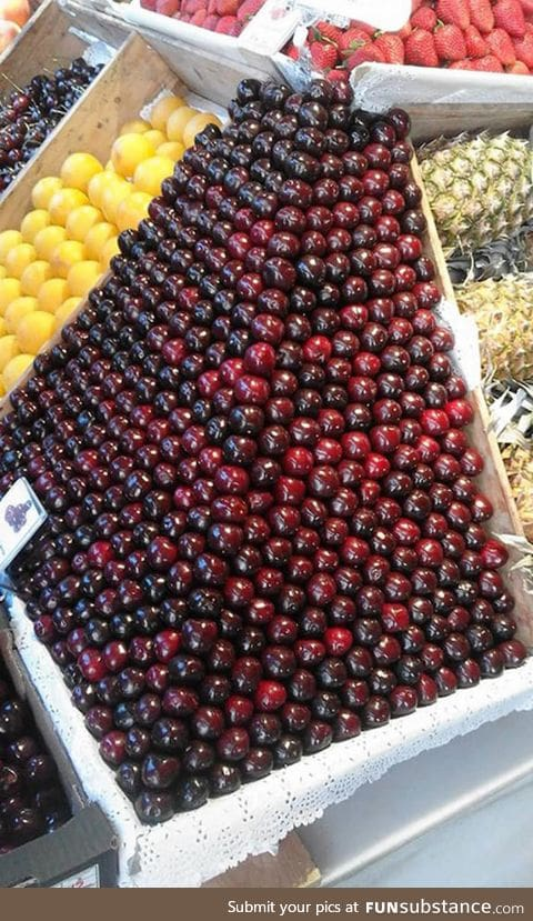 This glorious pyramid of cherries