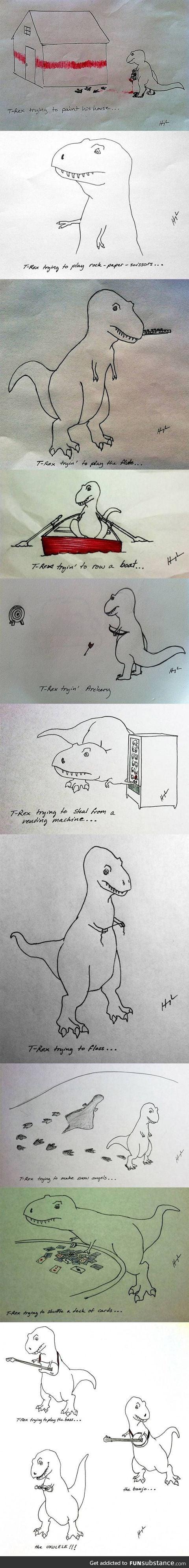 T-Rex trying new stuff