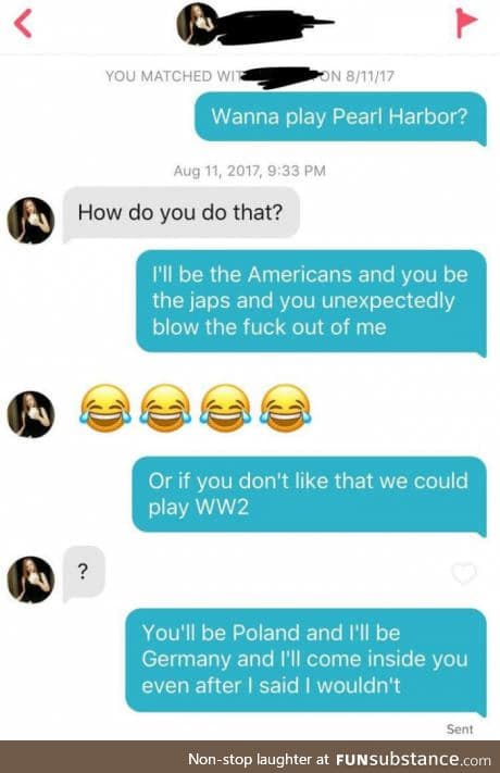 Using history as pickup lines