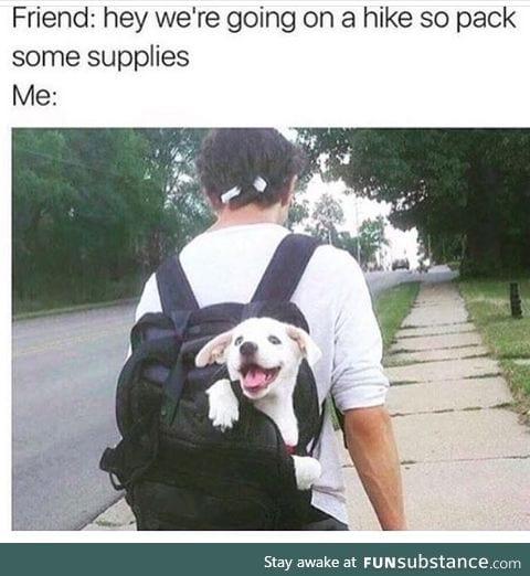 I'd like to go on a hike too