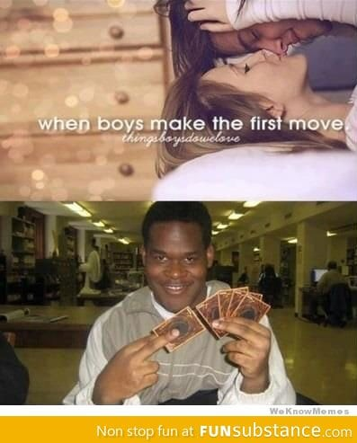 When boys make the first move