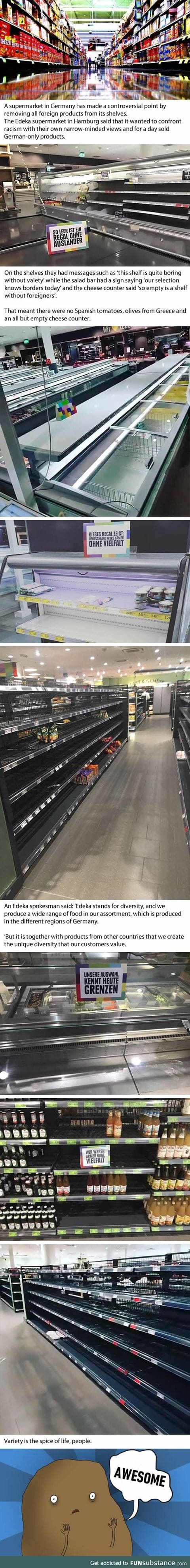 Supermarket removes all foreign products