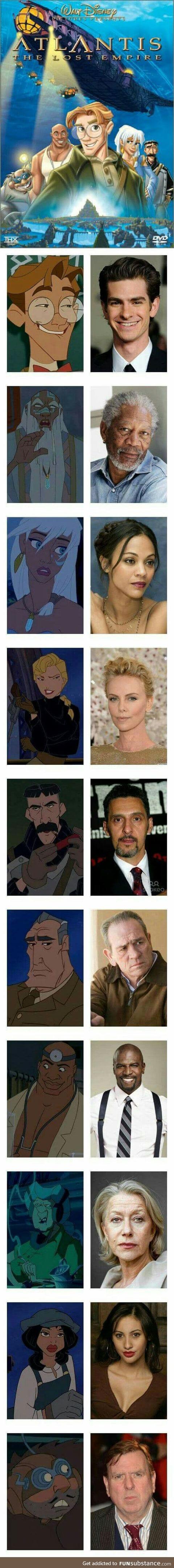 Real life Atlantis movie cast!