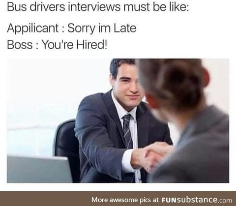 How they hire bus drivers