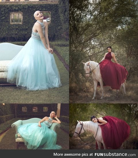 Cancer survivor had a photoshoot during and after treatment
