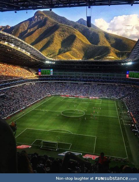 Wonderful view from the Monterrey Stadium, New Mexico