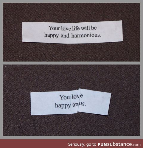 Fold your cookie fortunes to say new things