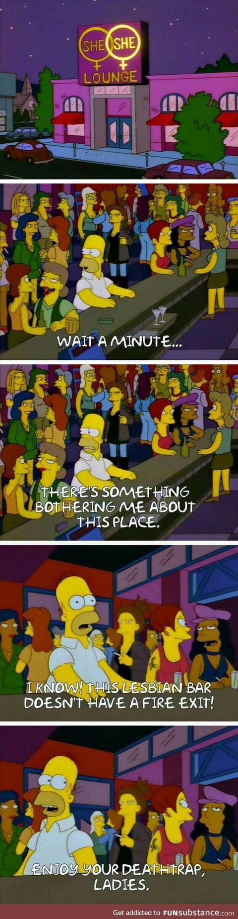 Simpson Meme scene