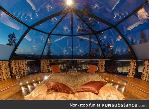 Inside a Glass Igloo