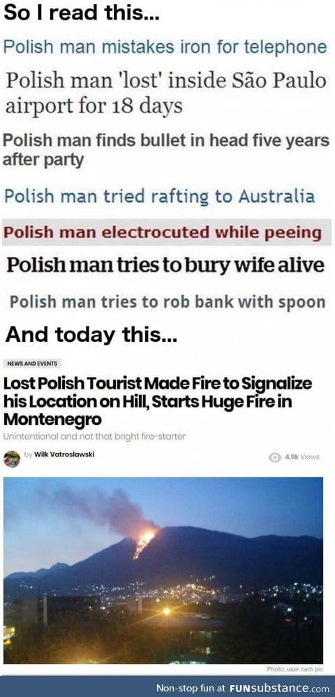 Polish man strikes again