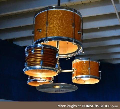 Drum kit chandelier, so much want