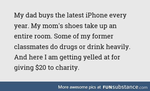 Happened a few minutes ago, I'm still like wtf. Consumerism at its finest I guess?