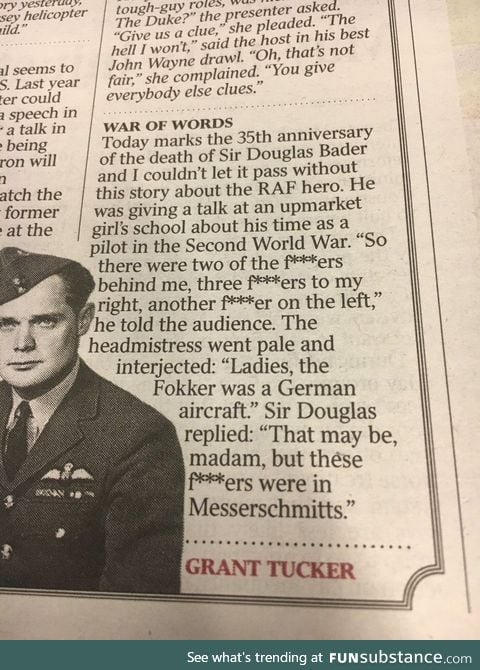 Be careful when inviting war hero's to give a talk at your school!