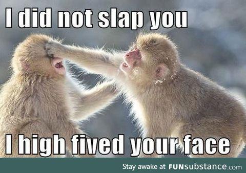 It was not a slap