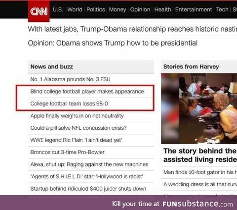 Poor headline placement on CNN