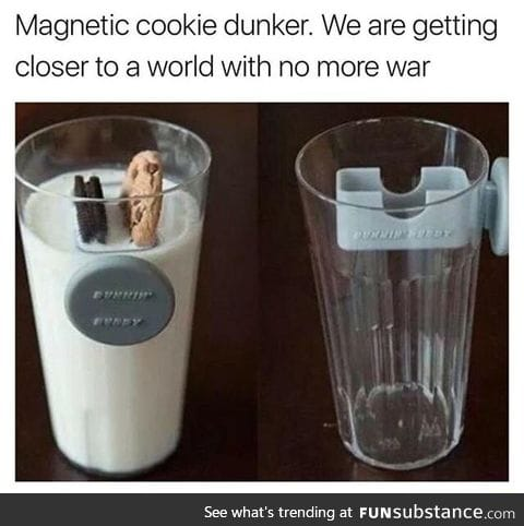 Magnetic cookie dunker