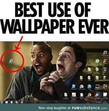 Best use of wallpaper ever!