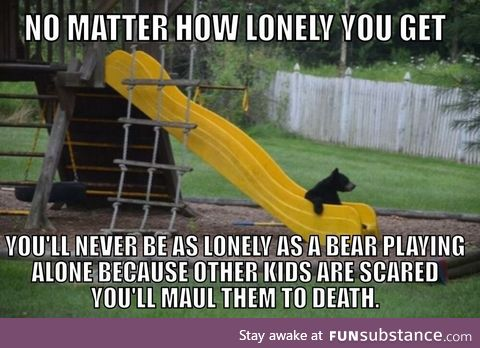 We should feel sorry for the bear