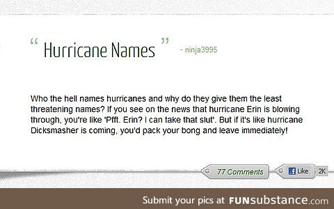 Another strong hurricane gonna strike the US