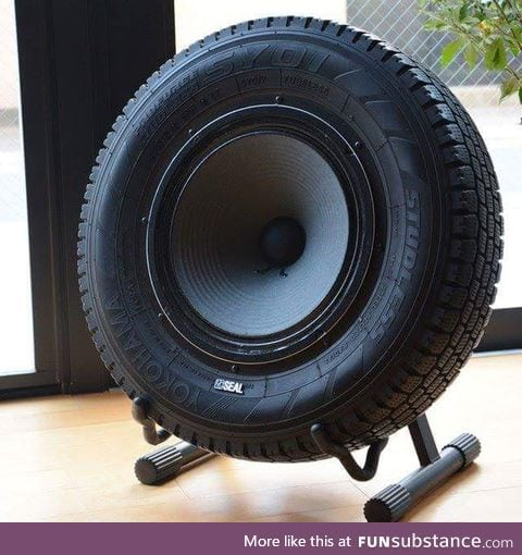 This tyre speaker is an awesome idea