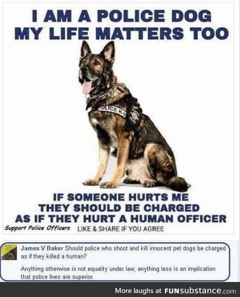 Cops love shooting dogs