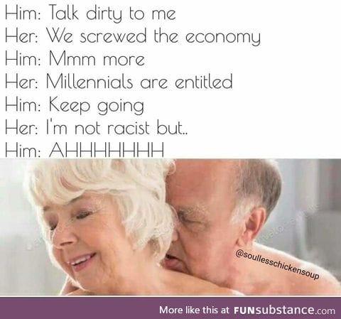 Baby Boomer dirty talk