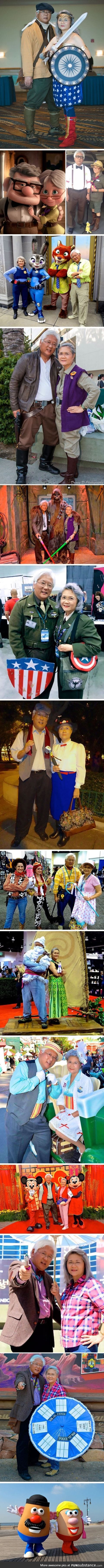 Retired couple that cosplay together