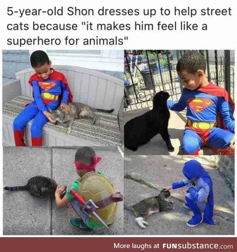 He is a superhero