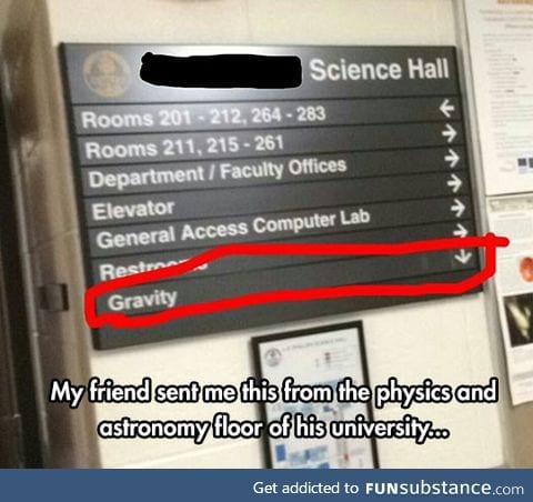 Science hall humor