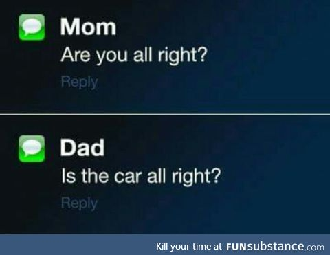 The difference between mom and dad