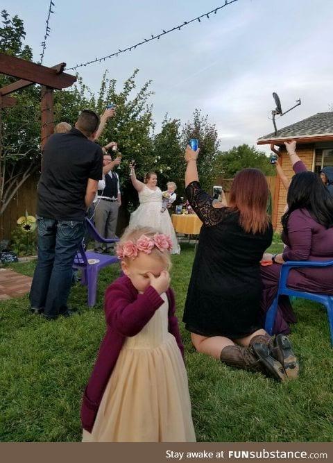 Flower Girl at Wedding